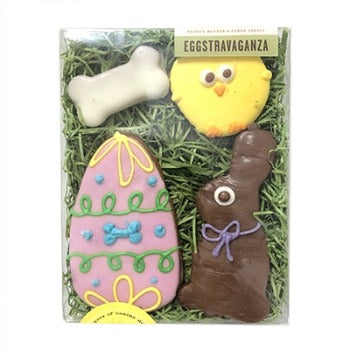 Bubba Rose Biscuit Company Eggstravaganza Dog Treat Box-Paws & Purrs Barkery & Boutique