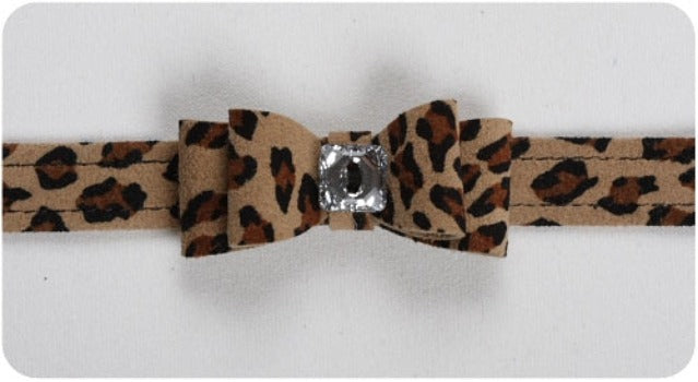 Cheetah Big Bow Collar