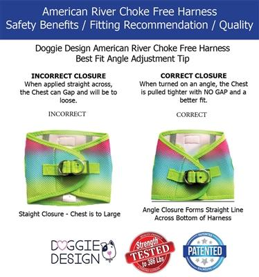 Doggie Design American River Choke-Free Dog Harness Fit Guide-Paws & Purrs Barkery & Boutique