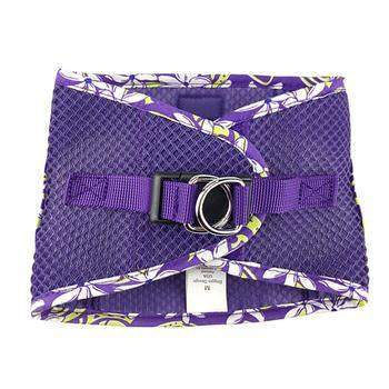 Doggie Design American River Paisley Purple Hawaiian Trim Step In Choke Free Dog Harness-Paws & Purrs Barkery & Boutique