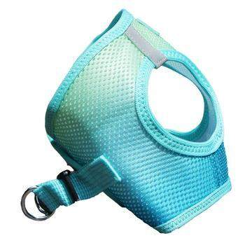 American River Ombre Choke-Free Dog Harness - Aruba Blue.