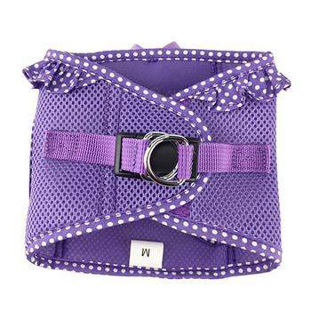 American River Choke-Free Dog Harness - Paisley Purple Polka Dot