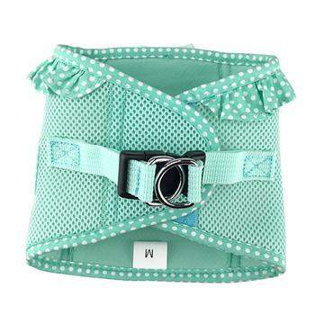 American River Choke-Free Dog Harness - Teal Polka Dot