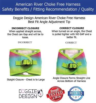 American River Choke Free Vampire Kisses Dog Harness