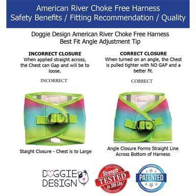 Doggie Design American River Choke-Free Dog Harness Fit Size-Paws & Purrs Barkery & Boutique
