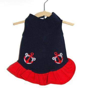 Daisy & Lucy Anchors Away Flounce Dog Dress-Paws & Purrs Barkery & Boutique