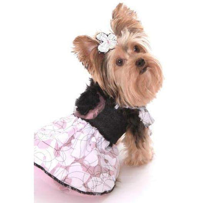 Dog In The Closet Aubrey Denim Harness Dog Dress-Paws & Purrs Barkery & Boutique