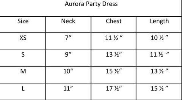 Aurora Party Dress.