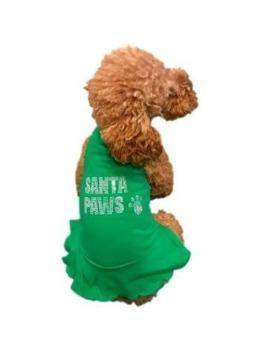 Big Santa Paws Green Christmas Dress.