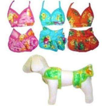 Pampet Puppe Love Hawaiian Print Dog Bikini-Paws & Purrs Barkery & Boutique