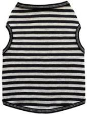 I See Spot Black & Gray Stripe Dog Tank-Paws & Purrs Barkery & Boutique