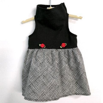 Daisy & Lucy Black Top with Ink Lines Dog Dress-Paws & Purrs Barkery & Boutique