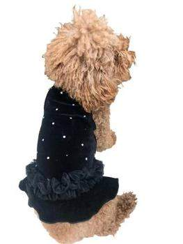 Black Velvet Twinkle Tutu Dog Dress