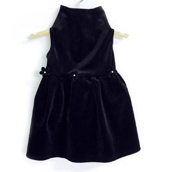 Daisy & Lucy Black Velvet Dog Dress-Paws & Purrs Barkery & Boutique