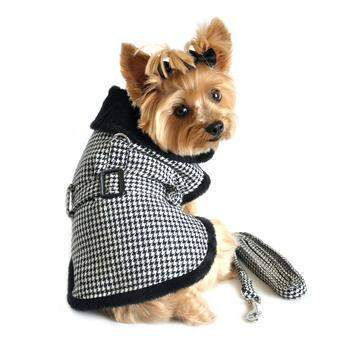 Black & White Classic Houndstooth Harness Coat.