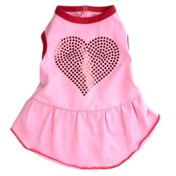 The Worthy Dog Pink Bling Hearts Dog Dress-Paws & Purrs Barkery & Boutique