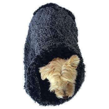 The Dog Squad Black & White Powder Puff Cozy Pet Sak-Paws & Purrs Barkery & Boutique