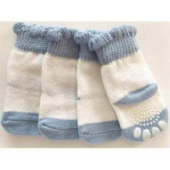 Pampet Puppe Love Blue & White Non-Slip Dog Socks-Paws & Purrs Barkery & Boutique
