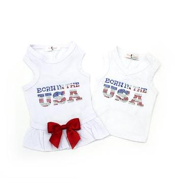 Hello Doggie Born in the USA Dog Tank-Paws & Purrs Barkery & Boutique