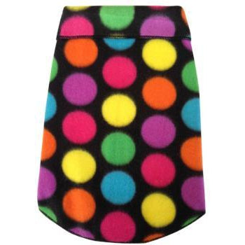 Big Bright Dots Multi-Color Fleece Dog Pullover.