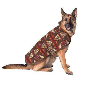 Chilly Dog Brown Southwest Dog Blanket Coat-Paws & Purrs Barkery & Boutique
