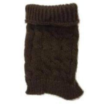 Brown Cable Knit Dog Sweater.