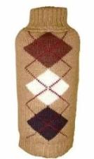Dallas Dogs Brown Argyle Dog Sweater-Paws & Purrs Barkery & Boutique