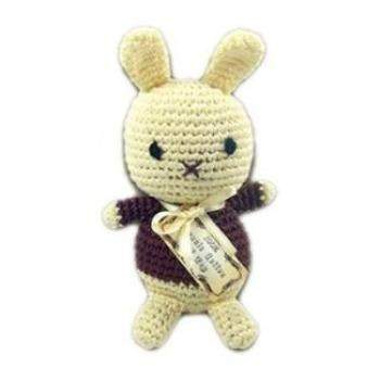 Knit Knacks Organic Crocheted Foo Foo Bunny Small Dog Toy-Paws & Purrs Barkery & Boutique