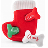 Zippy Paws Holiday Burrow - Naughty or Nice Stocking Dog Toy-Paws & Purrs Barkery & Boutique