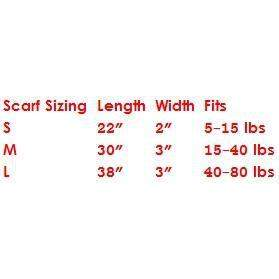 Chilly Dog Scarf Size Chart-Paws & Purrs Barkery & Boutique