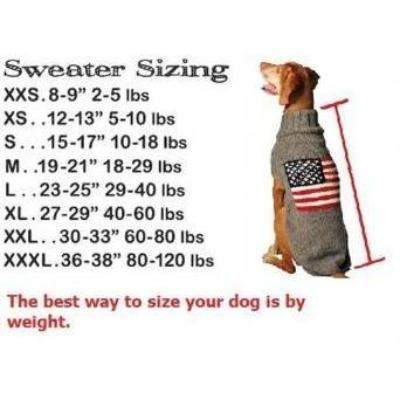 Chilly Dog American Flag Dog Sweater-Paws & Purrs Barkery & Boutique