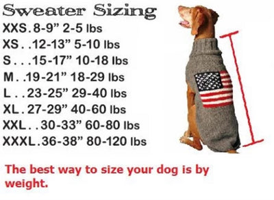 Chilly Dog Sweater Size Chart-Paws & Purrs Barkery & Boutique