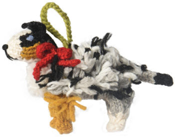 Chilly Dog Australian Shepherd Handmade Knit Christmas Tree Ornament-Paws & Purrs Bakery & Boutique