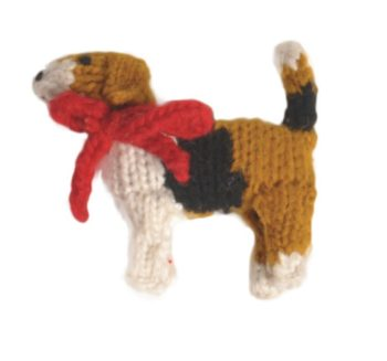 Chilly Dog Beagle Handmade Knit Christmas Tree Ornament-Paws & Purrs Barkery & Boutique