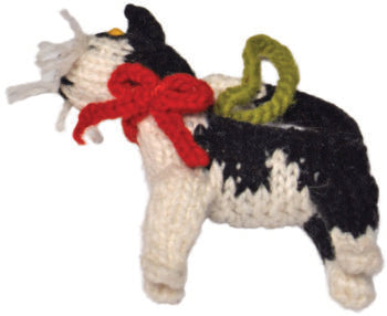 Chilly Dog Black and White Cat Handmade Knit Christmas Tree Ornament-Paws & Purrs Barkery & Boutique