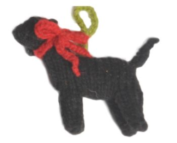 Chilly Dog Black Lab Handmade Knit Dog Christmas Tree Ornament-Paws & Purrs Barkery & Boutique