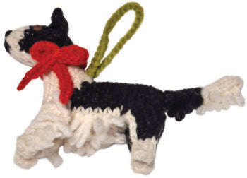 Chilly Dog Border Collie Handmade Knit Dog Christmas Tree Ornament-Paws & Purrs Barkery & Boutique