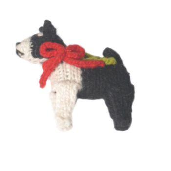 Chilly Dog Boston Terrier Handmade Knit Dog Christmas Tree Ornament-Paws & Purrs Barkery & Boutique