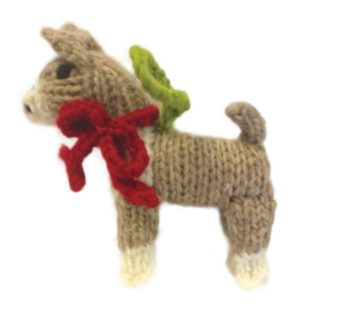 Chilly Dog Boxer Handmade Knit Dog Christmas Tree Ornament-Paws & Purrs Barkery & Boutique