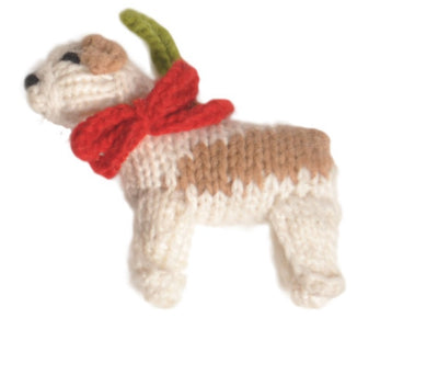 Chilly Dog Bulldog Handmade Knit Dog Christmas Tree Ornament-Paws & Purrs Barkery & Boutique