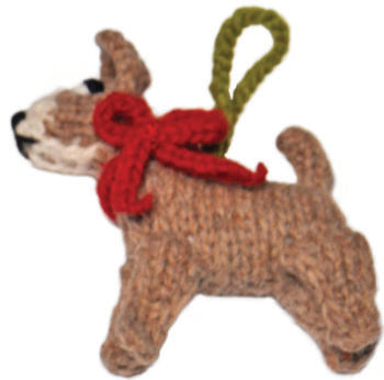 Chilly Dog Chihuahua Handmade Knit Dog Christmas Tree Ornament-Paws & Purrs Barkery & Boutique