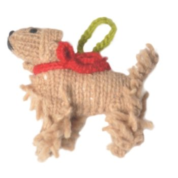 Chilly Dog Cocker Spanier Handmade Knit Dog Christmas Tree Ornament-Paws & Purrs Barkery & Boutique