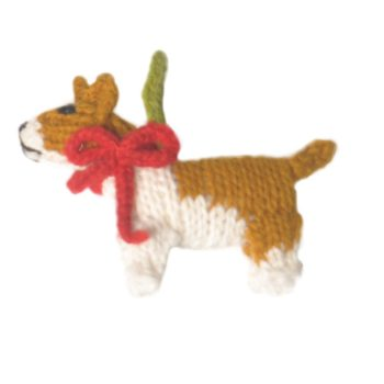 Chilly Dog Corgi Handmade Knit Dog Christmas Tree Ornament-Paws & Purrs Barkery & Boutique