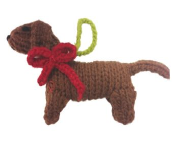 Chilly Dog Dachshund Handmade Knit Dog Christmas Tree Ornament-Paws & Purrs Barkery & Boutique