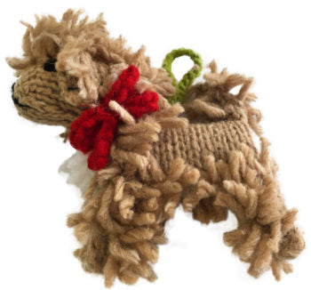 Chilly Dog Doodle Handmade Knit Dog Christmas Tree Ornament-Paws & Purrs Barkery & Boutique