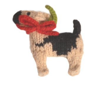 Chilly Dog German Shepherd Handmade Knit Dog Christmas Tree Ornament-Paws & Purrs Barkery & Boutique