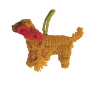 Chilly Dog Golden Retriever Handmade Knit Dog Christmas Tree Ornament-Paws & Purrs Barkery & Boutique
