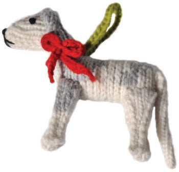 Chilly Dog Greyhound Handmade Knit Dog Christmas Tree Ornament-Paws & Purrs Barkery & Boutique