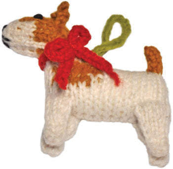 Chilly Dog Jack Russell Terrier Handmade Knit Dog Christmas Tree Ornament-Paws & Purrs Barkery & Boutique