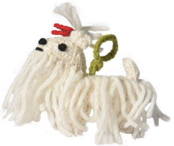 Chilly Dog Maltese Handmade Knit Dog Christmas Tree Ornament-Paws & Purrs Barkery & Boutique